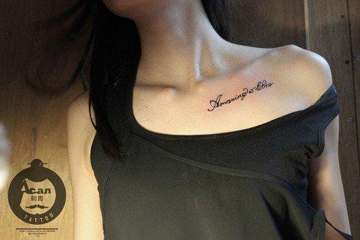 欧美纹身个性女生图片