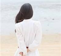 唯美图片女生背影海边 小清新海边女生背影头像