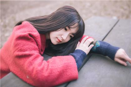 暖冬下的红衣女孩 暖暖文艺范
