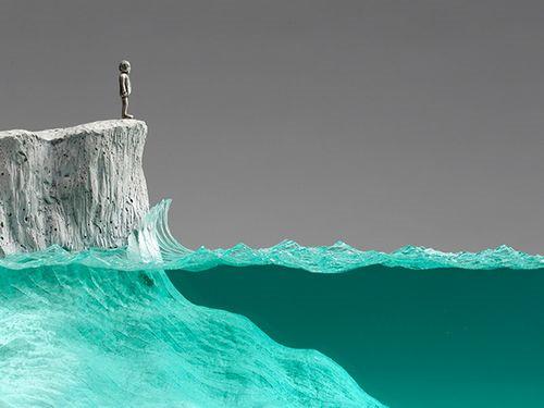 玻璃水泥雕塑 另外一种别致的美