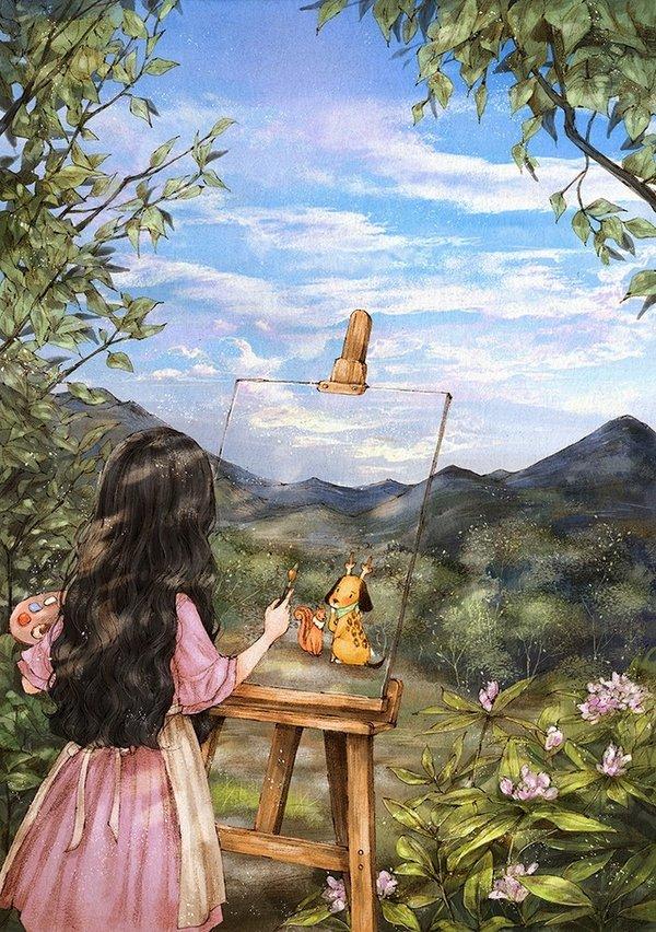 童话里的森林插图